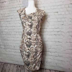Mango snake skin dress